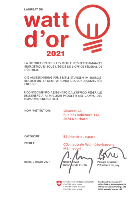 Watt d'Or 2021 Solaxess