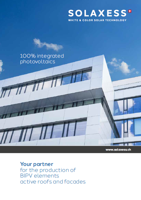 Cover brochure Solaxess