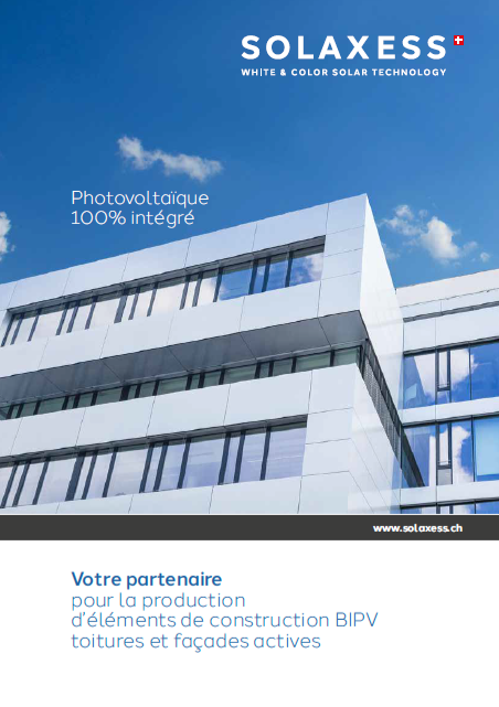 Brochure Solaxess BIPV